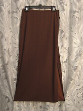 WOW~~SLINKY CREPE KNIT LEOPARD SLITTED PULL-UP LONG MAXI SKIRT DRESS~SMALL-S~NEW