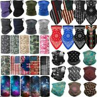 Motorcycle Face Mask Bandana Tube Scarf Mouth Cover Balaclava Neck Gaiter Snood