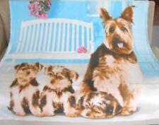 New Soft Yorkie Family Yorkies Fleece Throw Gift Blanket Puppy Dog Breed Lover