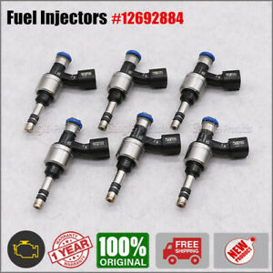 6PCS Fuel Injector For Buick Cadillac Chevrolet GMC 3.6L V6 2016-2020 12692884