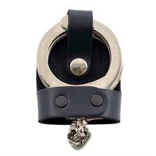 Perfect Fit Leather Bikini Handcuff Case Chrome Snap Belt Slide Standard Cuffs