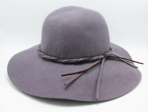 New APT.9 Floppy Grey 100% Wool Hat with Braided Belt #WAP53HT03GREY