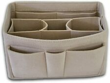 Purse Organizer Insert Felt Bag Fits LV 35 Speedy Neverfull Longchamp Tote Khaki