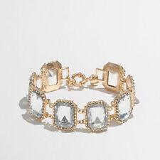 J. Crew crystal pillow bracelet item A1844 NIP $34.50 Clear