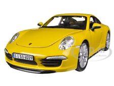 PORSCHE 991 (997) CARRERA S YELLOW 1/24 DIECAST MODEL CAR BY BBURAGO 21065