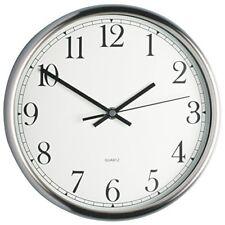Kitchen Craft Clock, Stainless Steel, 25cm - Steel Clock Wall 25cm 9 Kitchen