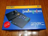 Super Famicom CAPCOM POWER STICK FIGHTER SFC + STICKERS + REG CARD