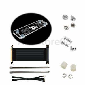 PCI-E 3.0 16X Graphics Card vertical kickstand/base with LED Light & PCI-E Cable