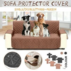 Sofa Covers for Pets Kids Anti-Slip Couch Recliner Slipcovers Single-seat Brown