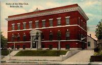 Belleville Illinois~BPOE~Elk's Club Building~Doors Open~c1910 Postcard