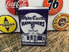 classic WHITE CASTLE RESTAURANT 5cent hamburgers FULL backed refrigerator MAGNET