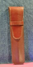 Brown  Pouch / Genuine Leather case for one  pen