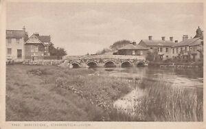 b england hampshire old antique picture postcard english christchurch the bridge