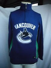 Vancouver Canucks NHL Official Licensed Sweater Knit Pullover 1/3 Zip Ilanco