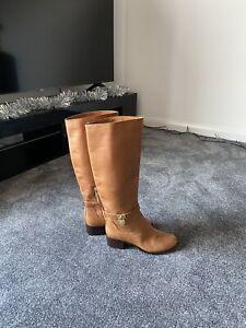 MICHAEL KORS Brown Tan Leather Knee High Boots UK 4 / EU 37 / US 6.5