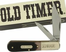 Schrade Old Timer Barlow Folding Pocket Knife 280OT Brown Sawcut Delrin Handles