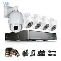 PTZ HD 8CH AHD Hybrid DVR 1080p 4Pcs 2500TVL CCTV Security Camera System Outdoor