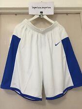 Men's Nike Enferno Basketball Shorts White/Royal Blue Size M