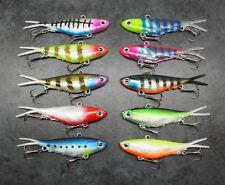 Soft Plastic Vibe Lures x10, 95mm, Vib Vibes Blade trazo transam Fishing Lure