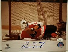 Bernie Parent signed Flyers 8x10 Photo  JSA COA