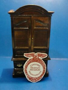 Dollhouse wood armoire closet Concord Museum Armoire closet  1:12th