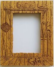 """Fishing Picture Frame Laser Cut Wood 5 x 7"""" Opening"""