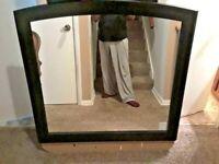 """Ashley Furniture Emmafield Black Bedroom Mirror  B420-36 - 40"""" x 38"""" * MINT!"""