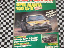 AUTO-HEBDO 1985 OPEL MANTA 400 GR.B / HONDA S800 / G.P ALLEMAGNE