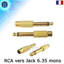 Adaptateur Audio RCA femelle Vers Jack 6.35mm Mâle Mono Or Embout Convertisseur