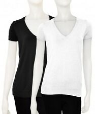 New Ladies Zara Black White Capped Sleeve Knitted Tops UK Size S M L, 8 10 12 14
