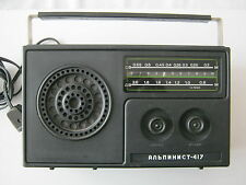 Soviet Russian Transistor Radio  ALPINIST  417