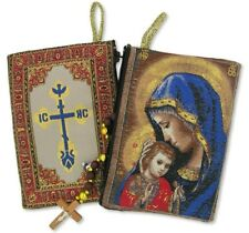 Flexable Icon Tapestry Rosary case Virgin Mary & Jesus