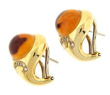 Antonini Maderia Citrine Earrings 18K Yellow Gold NEW
