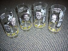 SUPER BOWL XIII MCDONALD'S PITTSBURGH STEELERS 4 DRINKING GLASS SET TERRY FRANCO