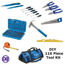 DIY 116 Piece Tool Kit in a Hard Carry Bag. Saw,Hammer,Pliers,Screwdrivers Etc