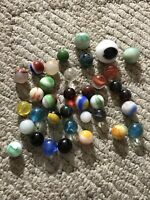 Lot Of 36 Antique/ Vintage Assorted Marbles Shooters Mini Swirls++ NICE LOT