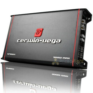 Cerwin Vega 4 Channel Amplifier 900W Max A/B HED Series Amp 2 Ohm Stable H7900.4