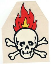 Hot Rod Aufkleber - Skull Mit Flammen
