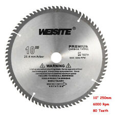 "Circular Saw Blade 10"" 80T Teeth 250mm Carbide Alloy Accurate Pro. Wood Cut"