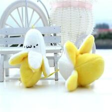 1 x Banana Fruit Shape Plush Keychain Key Ring Hanging Decoration Pendant Sm