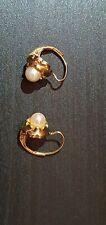 Goldohrringe 333 mit perle