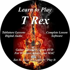T Rex Guitar TABS Lesson CD 77 Songs + Backing Tracks + BONUS