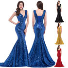 SEQUIN Long Mermaid Wedding Prom Pageant Evening Formal Party Bridesmaid Dresses