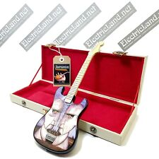 Mini Guitar Pink Floyd division bell + hard case box 1:4 miniature collectible