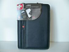 Wenger Black Top-Grain Leather Mobile Cell Phone Zippered Portfolio Pad Case