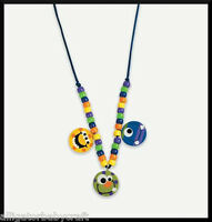 Silly Monster Charm Necklace Craft Kit for Kids ABCraft Girls Boys Party Favor