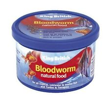King British Bloodworms Freeze Dried 7g Fish Food Tropical and Coldwater Fish