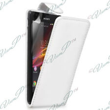 CASE COVER COVERS TPU S SILICONE GEL FOLDING LEATHER PU FILM SONY XPERIA L S36H