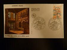 FRANCE PREMIER JOUR FDC YVERT 2081 TOUR DE L HORLOGE 1,50F  CORDES 1980