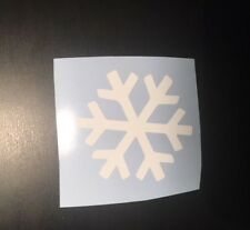 Snowflake Car Decal WHITE 70mm
